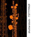 telecommunication tower... | Shutterstock .eps vector #737779969