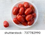 Red Grape Tomatoes In A Bowl