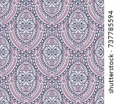 vintage decorative seamless... | Shutterstock .eps vector #737785594