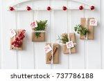 christmas  advent calendar  gift | Shutterstock . vector #737786188