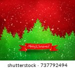 winter landscape red and green... | Shutterstock .eps vector #737792494
