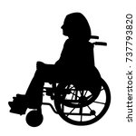 disabled person in wheelchair | Shutterstock .eps vector #737793820