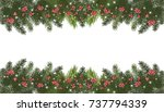 christmas long garland... | Shutterstock . vector #737794339