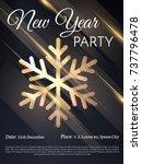 new year stylish golden... | Shutterstock .eps vector #737796478