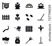 16 vector icon set   shop... | Shutterstock .eps vector #737798539