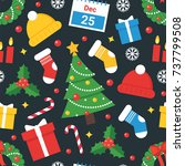 christmas and new year vector... | Shutterstock .eps vector #737799508