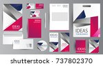 corporate identity template... | Shutterstock .eps vector #737802370