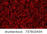 light red vector low poly... | Shutterstock .eps vector #737810434
