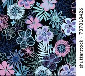 floral pattern | Shutterstock .eps vector #737818426