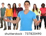 friends young people social... | Shutterstock . vector #737820490
