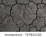 Gray Cracked Earth Background...