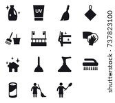 16 vector icon set   cleanser ... | Shutterstock .eps vector #737823100