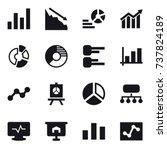 16 vector icon set   graph ...