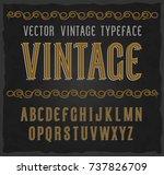 vector vintage typeface. vector ... | Shutterstock .eps vector #737826709