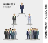 business people team... | Shutterstock .eps vector #737827588