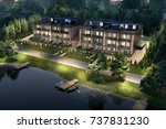 boarding house by the river ... | Shutterstock . vector #737831230