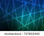 dark blue  green vector... | Shutterstock .eps vector #737833540