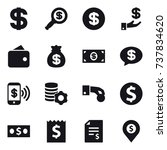 16 vector icon set   dollar ... | Shutterstock .eps vector #737834620