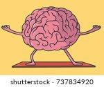 yoga brain illustration. mental ...   Shutterstock .eps vector #737834920