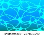 light blue vector indian curved ... | Shutterstock .eps vector #737838640