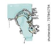 france vector illustration.... | Shutterstock .eps vector #737841754