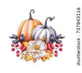 Floral Pumpkins  Thanksgiving...