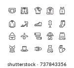 clothing icon set  outline style