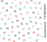 colorful seamless pattern with... | Shutterstock .eps vector #737845024