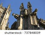 gargoyle carvings on manchester ... | Shutterstock . vector #737848039