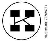 k initial | Shutterstock .eps vector #737850784