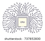 microchip icon monochrome... | Shutterstock .eps vector #737852830