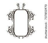 vector decorative frame.... | Shutterstock .eps vector #737853970