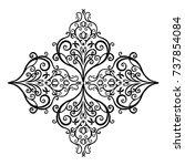 premium  vintage baroque frame... | Shutterstock .eps vector #737854084