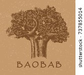 baobab tree | Shutterstock .eps vector #737855014