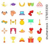 bonus icons set. cartoon set of ... | Shutterstock . vector #737855350