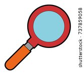magnifying glass isolated icon | Shutterstock .eps vector #737859058