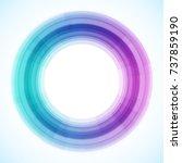 geometric frame from circles ... | Shutterstock .eps vector #737859190
