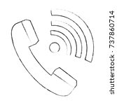 phone service with wifi waves | Shutterstock .eps vector #737860714