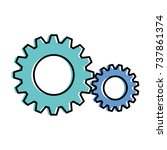 gears machine isolated icon | Shutterstock .eps vector #737861374