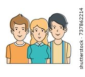 people casual avatars characters | Shutterstock .eps vector #737862214