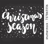 christmas season   hand drawn... | Shutterstock .eps vector #737865556