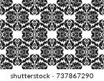 seamless abstract damask... | Shutterstock .eps vector #737867290