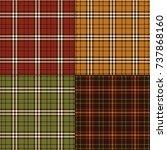 thanksgiving colors plaids | Shutterstock .eps vector #737868160