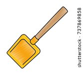 dustpan clean isolated icon | Shutterstock .eps vector #737869858