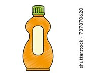 detergent bottle isolated icon | Shutterstock .eps vector #737870620