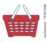shopping basket isolated icon | Shutterstock .eps vector #737871088
