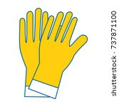 rubber gloves cleaning icon | Shutterstock .eps vector #737871100