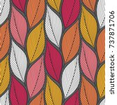 stylized colorful leaves... | Shutterstock .eps vector #737871706