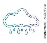 cloud sky rainy icon | Shutterstock .eps vector #737871910