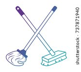 mop and brush icon | Shutterstock .eps vector #737871940